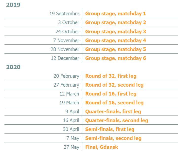 Calendrier Semi.Europa League 2019 2020 Nieuws Rmb